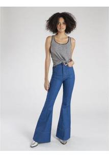 Calça Jeans Amapô Boca De Sino Feminina - Feminino