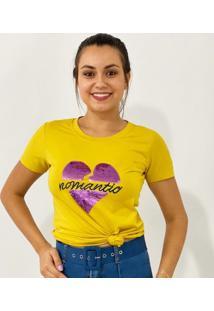 Blusa T Shirt Coração Bordado Cod - 12