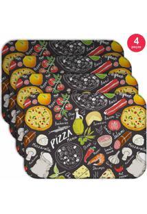 Jogo Americano Love Decor Wevans Pizza Kit Com 4 Pçs