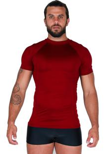Camisa Térmica Proteção Uv Curta Bravaa Modas 038 Vermelho