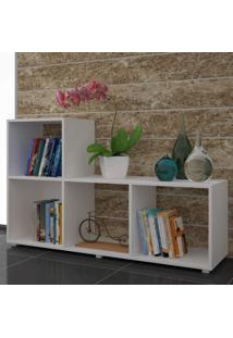 Estante Para Livros 4 Nichos Cube Moderno Brv Móveis Branco
