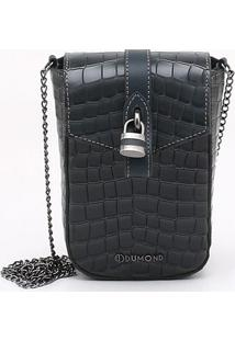 Bolsa Shoulder Bag Couro Croco Verde Éden - P