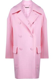 Givenchy Casaco Oversized Com Abotoamento Duplo - Rosa