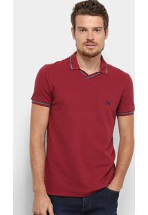 Camisa Polo Acostamento Básica Masculina - Masculino-Vinho