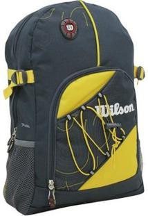 Mochila Esportiva Wtix13541A 21L Cinza/Amarelo - Wilson - Unissex