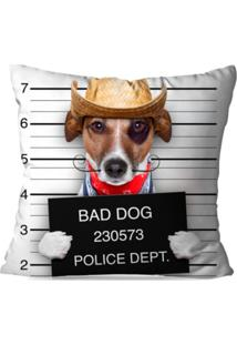 Capa De Almofada Decorativa Bad Dog 35X35Cm