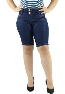 Bermuda Mã©Dia Jeans Anagrom Azul Tradicional - Azul Marinho - Feminino - Algodã£O - Dafiti