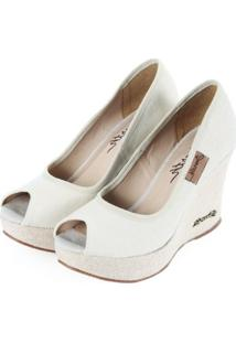 53014e7aa5 ... Sapato Barth Shoes Land Peep Toe Areia