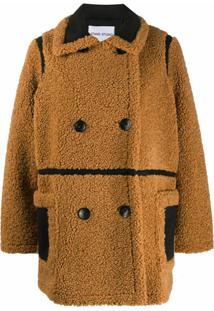 Stand Studio Chloe Faux-Shearling Jacket - Marrom
