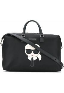 Karl Lagerfeld Mala Com Patch De Logo - Preto