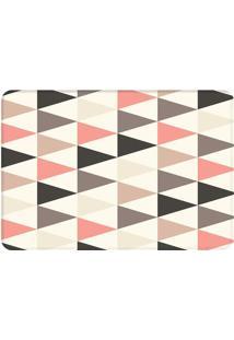 Tapete Multi Triângulos- Branco & Rosa Claro- 125X90Wevans