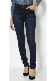2f0cb54c6c ... Jeans Skinny Estonada Com Tag- Azul Escurodudalina