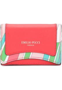 Emilio Pucci Porta-Moedas Com Estampa De Conchas - Vermelho