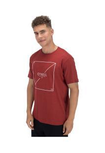 Camiseta O'Neill Estampada Slasher - Masculina - Vermelho
