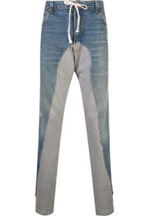 Greg Lauren Drawstring Waist Jeans - Azul