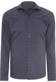 Camisa Masculina Urban Slim Fit - Cinza