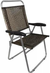 Cadeira Praia Em Aluminio Zaka Cancun Plus Colors Onça