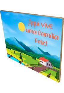 Porta Chaves Prolab Gift Família Feliz Multicolorido Azul