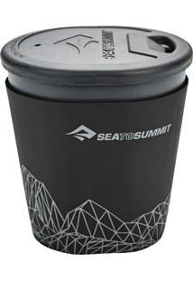 Caneca Para Camping Sea To Summit Deltalight Insul Mug 350Ml Com Tampa E Capa Térmica Cinza