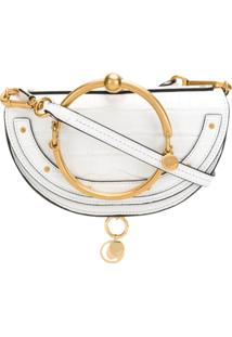 Chloé Clutch Nile Minaudiére Mini - Branco