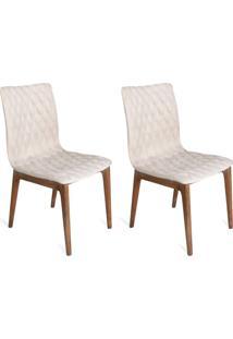 Conjunto Com 2 Cadeiras Luanda Veludo Cru
