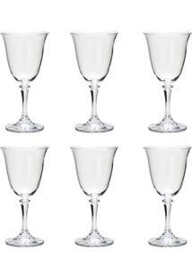 Jogo 6 Taças 290Ml Para Vinho Tinto De Vidro Kleopatra 5231 - Tricae