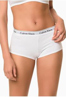 Calcinha Boyshort Modern Cotton - Branco - S