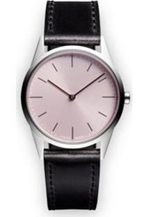 Uniform Wares Relógio 'C33 Two-Hand' De Aço Inoxidável - Preto