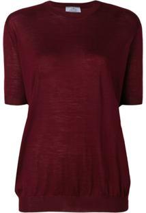 Prada Blusa De Lã - Vermelho