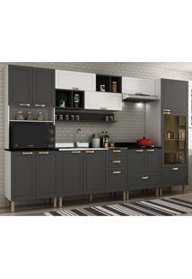 Cozinha Completa 9 Peã§As Americana Multimã³Veis 5655 Branco/Grafite - Branco/Incolor - Dafiti