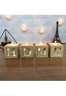 Cubo Decorativo Com Velas E Letras Em Acrílico Home