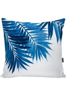 Capa De Almofada Foliage- Branca & Azul- 42X42Cmstm Home