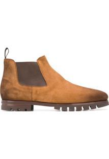 Santoni Ankle Chelsea Boots - Marrom