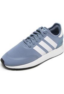Tênis Couro Adidas Originals Recortes Azul