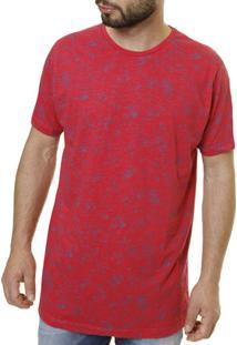 Camiseta Manga Curta Masculina - Masculino-Vermelho
