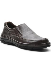 Sapato Masculino Conforto Elastico Cafe - Masculino