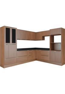 Cozinha Compacta Multimóveis Calábria 5461R.680.680.680.816 Nogueira Se