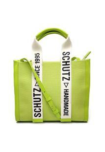 Bolsa Schutz Shopper Bag Lona Verde - S5001002310001