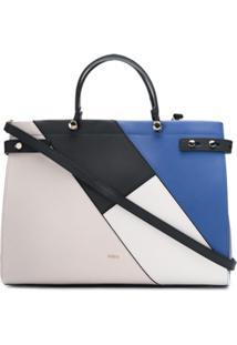 Furla Bolsa Tote Com Recortes - Azul