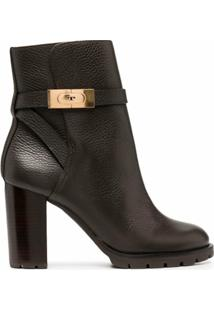 Tory Burch Ankle Boot De Couro - Marrom