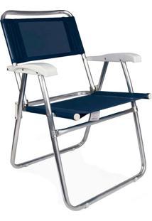 Cadeira Master Mor, Alumínio, Azul - 2102