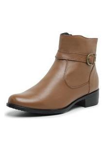 Bota Botina Country Feminina Cano Curto Em Couro Jna Shoes.