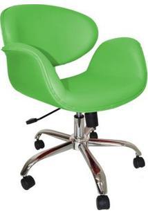 Cadeira Decorativa Tulipa Giratória Corano Verde