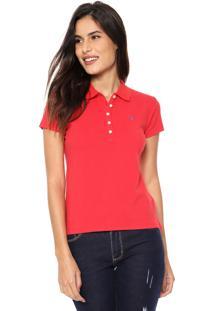 Camisa Polo Aleatory Logo Vermelha