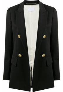 Merci Peak-Lapels Double-Breasted Blazer - Preto