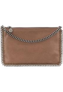 Stella Mccartney Falabella Zipped Clutch - Neutro