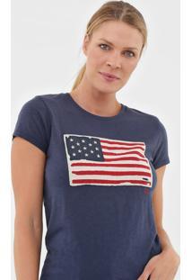 Camiseta Polo Ralph Lauren Bandeira Azul-Marinho