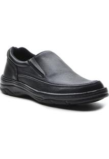 Sapato Masculino Conforto Elastico Preto - Masculino-Preto