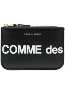 Comme Des Garçons Wallet Carteira Com Estampa De Logo - Preto