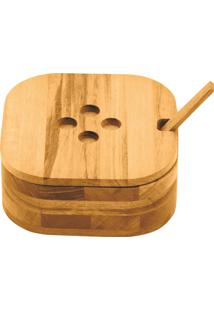 Farinheira Tramontina Em Madeira Muiracatiara Com Colher De Bamboo 10317100